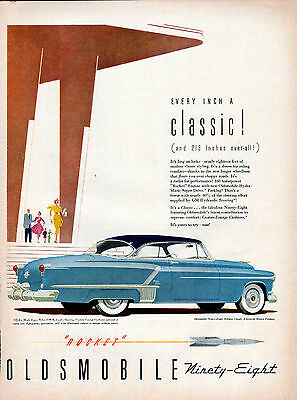 1952 Oldsmobile Car Ad --98 Holiday Coupe ----v724