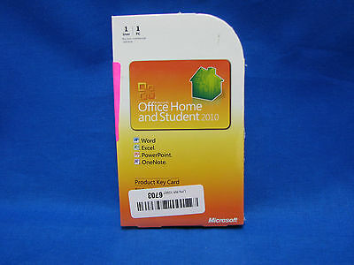 Microsoft Office 2010 Home and Student - Retail GENUINE NEW SEALED