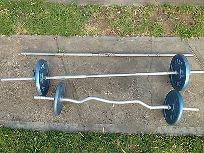 Weight Bench Gym Quality Plus Weights Dumbbell And Barbell Set