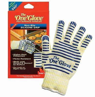 US The 'Ove' Glove. Heavy Duty Oven Glove Hot Surface Handler Durable & Washable