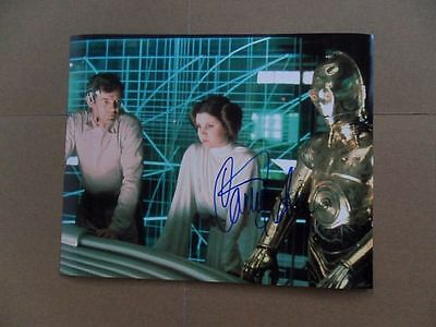 Carrie Fisher Star Wars Princess Leia Signed Autograph 8 x 10 Photo