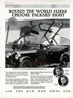 1925 Packard car ad -Eight Super Sport -The Car for Airplane Pilots-=197
