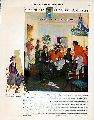 1931 Maxwell House Coffee Ad-- Old South Good Living----z498