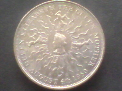 GREAT BRITAIN ,QUEEN MOTHER 80th BIRTHDAY  ,1980 25 NEW PENCE