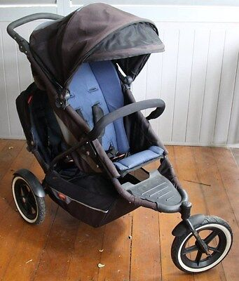 Phil & Teds Explorer Jogger Pram Stroller with Inline Double Kit