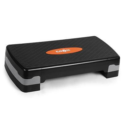 Aerobic Stepper Fitness Step 2 Adjustable Heights 250Kg Home Gym Exercise Block