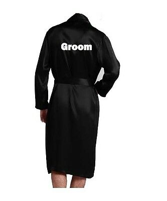 Men Satin Robes wedding Gift Groom Groomsman Father of the Bride or the groom