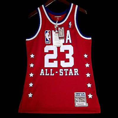phrgaa 100% Authentic Michael Jordan Mitchell & Ness 85 All Star NBA