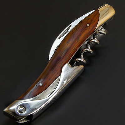 ATHRO Sommelier knife Japan, 'cocoboro' wood Wine opener, corkscrew, bar tools