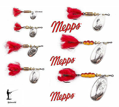 Mepps Aglia Silver dressed VARIETY SIZES red tail