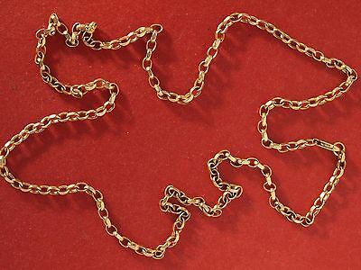 """Vintage 9ct Yellow Gold Belcher Chain 20"""" Necklace"""