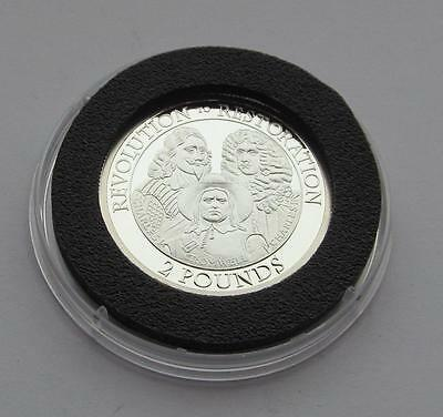 Jersey Silver Proof £2 coin dated 2010 - Revolution to Restoration