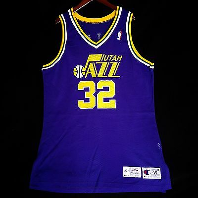 100% Authentic Karl Malone 95 96 Champion Game Issued Jazz Jersey