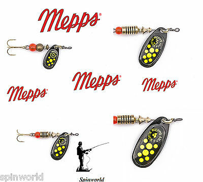 Mepps Black Fury Chartreuse VARIETY SIZES SPINNERS