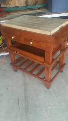 pine butchers block