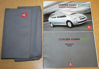 Citroen Xsara Picasso Manual Handbook Wallet Navi 2004-2010 Pack 8288