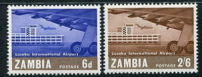 Zambia: 1967 Opening of Lusaka Airport set of 2 stamps SG122-123 MNH X081