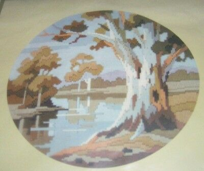 Semco Round Long Stitch Tapestry Kit Billabong Outback Australia Ghost Gum Water