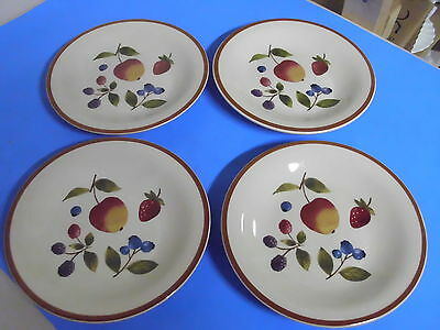 Lot Of 4 Longaberger Berry Fruit Dessert Or Salad Plates 8 Inches
