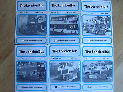 The London Bus Newsletters - 1988 x 6 - London Omnibus Traction Society LOTS