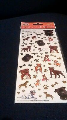 Staffordshire Bull Terrier Dog Craft Stickers