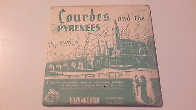 Viewmaster packet set 3d LOURDES AND THE PYRENEES