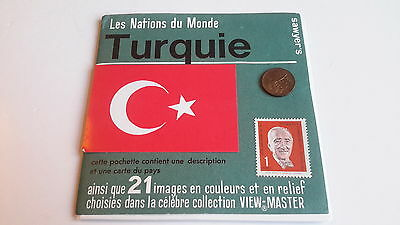 Viewmaster packet set 3d TURKEY French issue Nations of the World