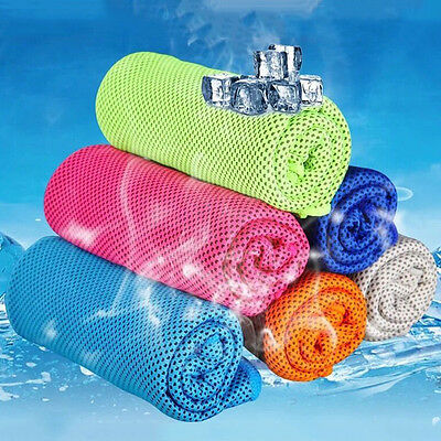 Ice Cold Enduring Running Jogging Gym Chilly Pad Instant Cooling Towel Sports ~