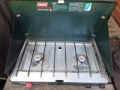 COLEMAN 2 Burner LP Gas Stove (Made in USA) Includes Hotplate and Gas Hose
