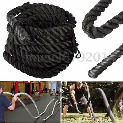 9/12/15M Battle Rope Battling Power Sport Training Gym Fitness Exercise Bootcamp