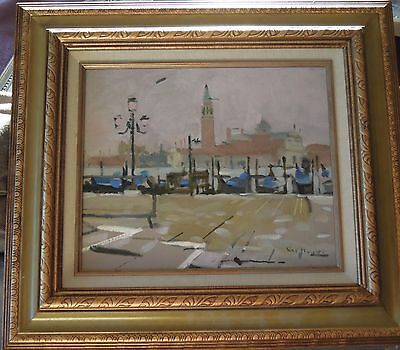Ken Howard RA OBE  Signed and inscribed  Oil Of The Grande Canal Venice