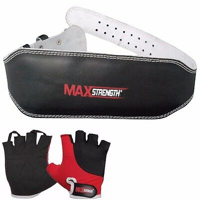 "Maxstrength Weight Lifting Gym Bodybuilding Padded Belt Back Support 6"" Wide"