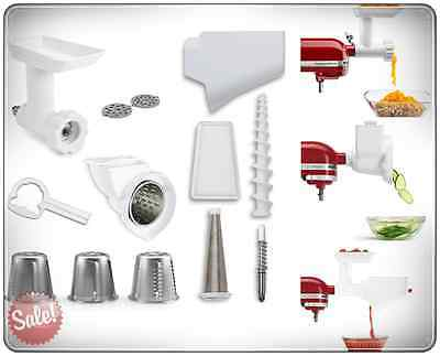 Kitchenaid Part Accessories Attachment Pack For Stand Mixers Grinder Slicer New