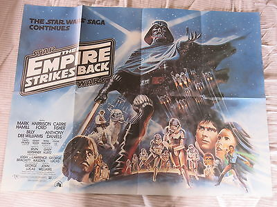 THE EMPIRE STRIKES BACK 1980 Original UK Quad Film Poster STAR WARS