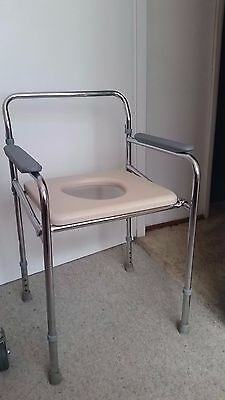 Over toilet frame commode seat - foldable