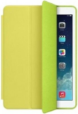 Genuine Apple Smart iPad Air 1 Magnetic Aniline Leather Case Cover Flip | Yellow