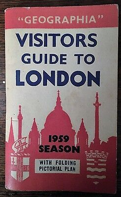 """Geographia"" Visitor Guide to London Map 1959"