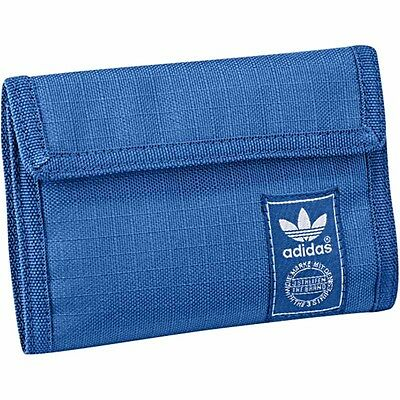 New Blue Adidas Trefoil Wallet Velcro, Streetwear Three Stripes NMD EQPT