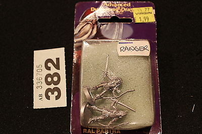 AD&D Ral Partha Rangers Ranger x2 Figures TSR Dungeons and Dragons Metal OOP