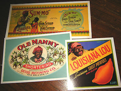 "Black Americana ""Past Cards"" Greetings Large Postcards featuring Antique Labels"