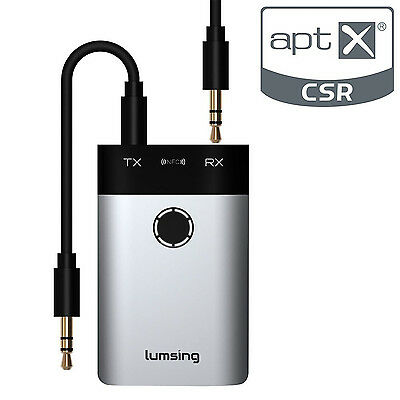 Wireless Bluetooth Home Audio Stereo Receiver Transmitter Adapter for Headphones
