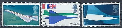 GB 1969 SG784-786 First Flight Of Concorde  Set Mint MNH