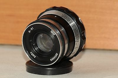 "INDUSTAR-61 ""ZEBRA"" 2.8/53mm Leica soviet lens M39 Zorki FED RF made in USSR"