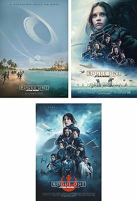 Set of 3 Rogue One: A Star Wars Story 2016 Orig 27x40 DS Intl Movie Posters