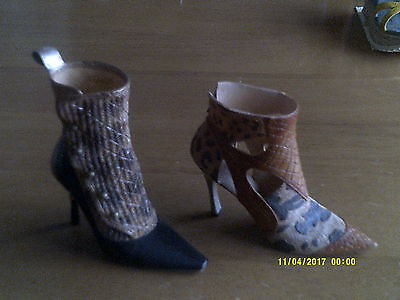 2 JUST THE RIGHT SHOE- COLLECTIBLE SHOES BY RAINE Savage/Argyle Attitude
