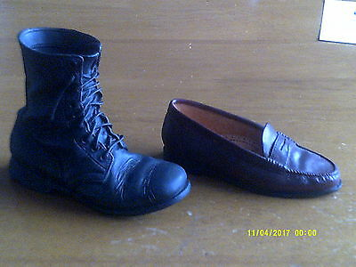 2 JUST THE RIGHT SHOE- COLLECTIBLE SHOES BY RAINE Penny Loafer/Military Boot