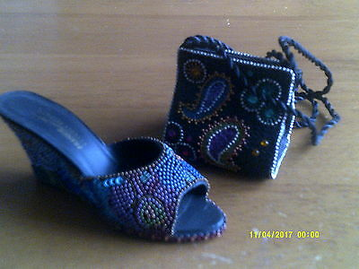 2 JUST THE RIGHT SHOE- COLLECTIBLE SHOES BY RAINE Jewels plus Purse
