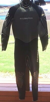 Scubapro Mens Wetsuit Wet Suit Everflex Thermal Tec 3mm Size ML Near NEW Surf