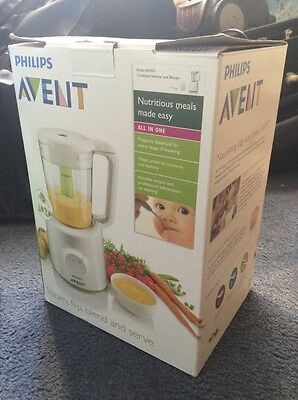Philips AVENT All-In-1 Healthy Baby Food Maker Steam Blender in Box
