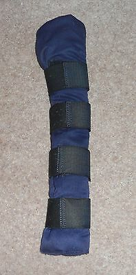 Shires Navy Padded Velcro Tail Guard